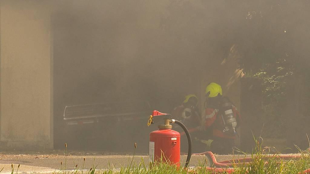 Wigoltingen (TG): Hoher Sachschaden bei Garagenbrand