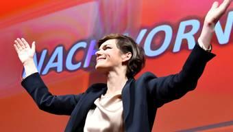 SPÖ-Bundesparteivorsitzende Pamela Rendi-Wagner beim 44. Ordentlichen Bundesparteitag der SPÖ am Samstag in Wels.