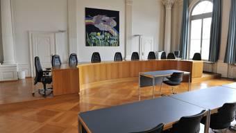 Obergerichtsaal: Hier wird der Fall im nächsten August/September in zweiter Instanz verhandelt.