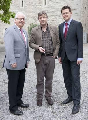 AZ-Mann Hans Fahrländer, Professor Kurt Imhof, Chefredaktor Christian Dorrer