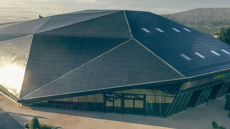 Hier tagt der Grosse Rat morgen Dienstag: Die Umwelt Arena in Spreitenbach. Bild: Umwelt Arena