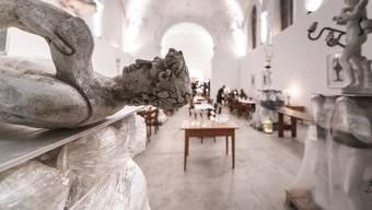 Die Brasserie Saint Jo im Haus der Kunst, der umgenutzten Klosterkirche St. Josef in Solothurn.