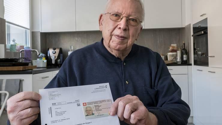 Über 60 Jahre unfallfrei, dann wird ihm der Führerausweis entzogen: Hansruedi Rentsch aus Allschwil.
