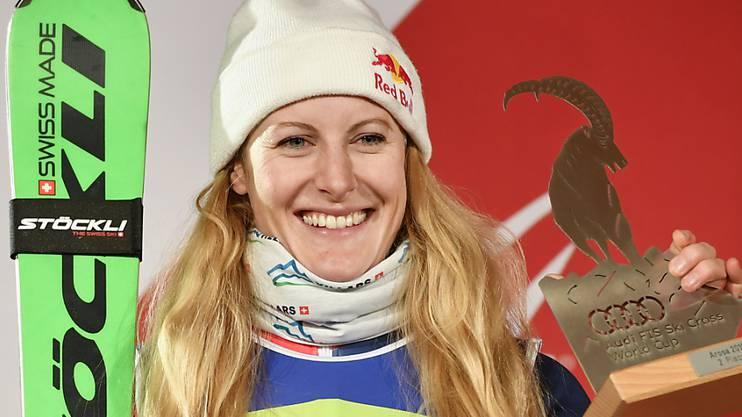 Fanny Smith gewann in Arosa schon dreimal, freute sich am Dienstag aber auch über Platz 2