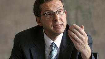 Der Aargauer Regierungsrat Urs Hofmann vor den Medien (Archiv)