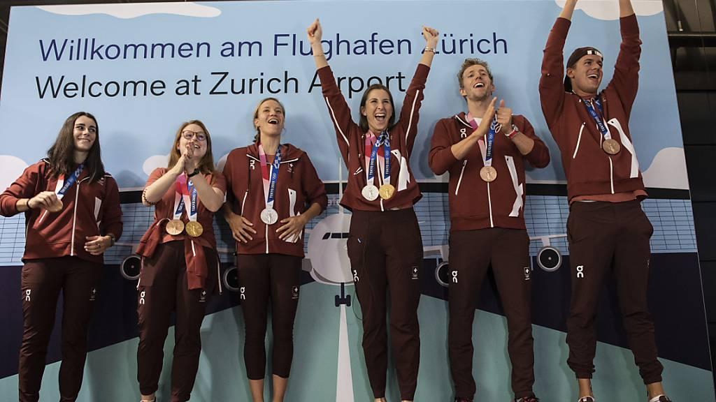 Empfang für erfolgreiche Sommer-Olympioniken in Magglingen BE