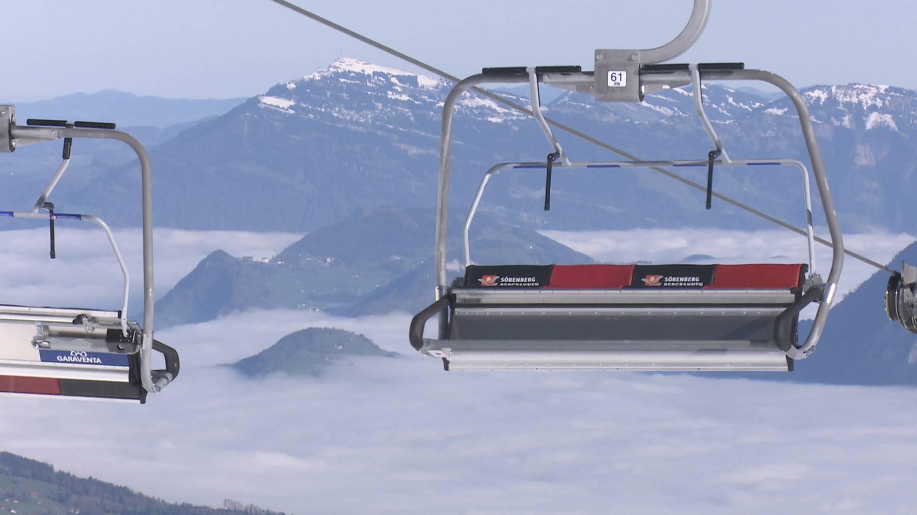 Sörenberg Bergbahnen. Neue Sessellift von Eisee auf das Brienzer Rothorn