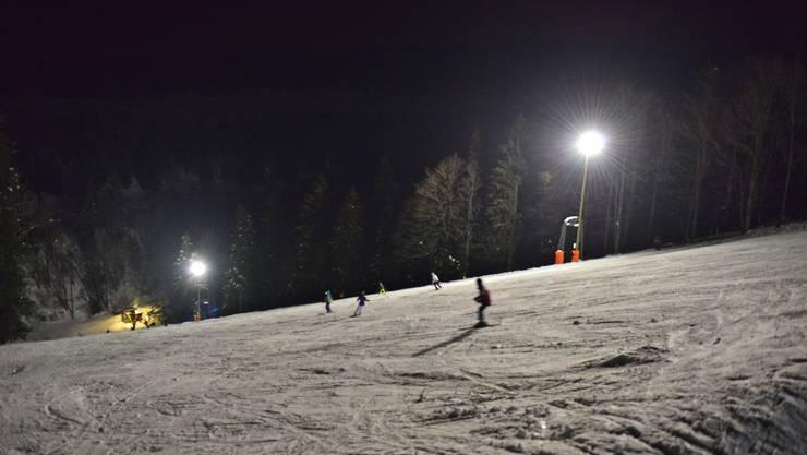 Das erstes und bisher einzige Nachtskifahren auf dem Grenchenberg gab es am 1. Januar.