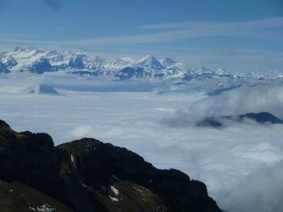 Das herrliche Panorama mit Nebelmeer