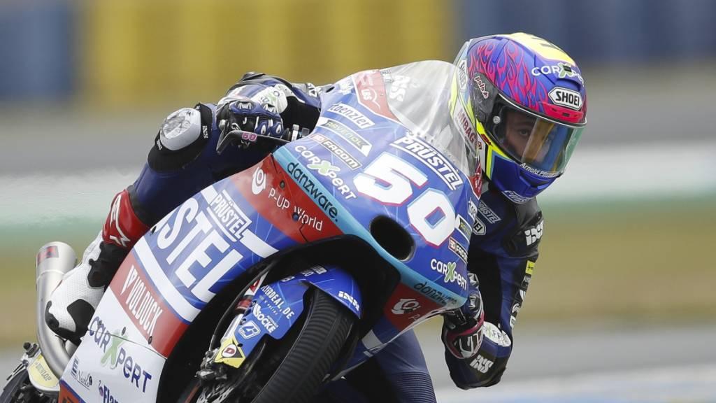 Der Freiburger Jason Dupasquier bestreitet seine zweite Saison in der Moto3.
