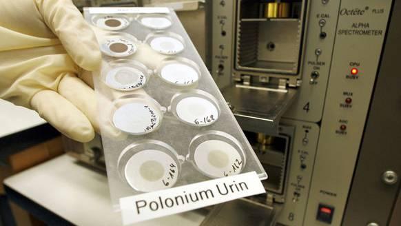 Analyse von Urinproben im Toxikologischen Labor des Forschungszentrums Karlsruhe am 8. Dezember 2006.
