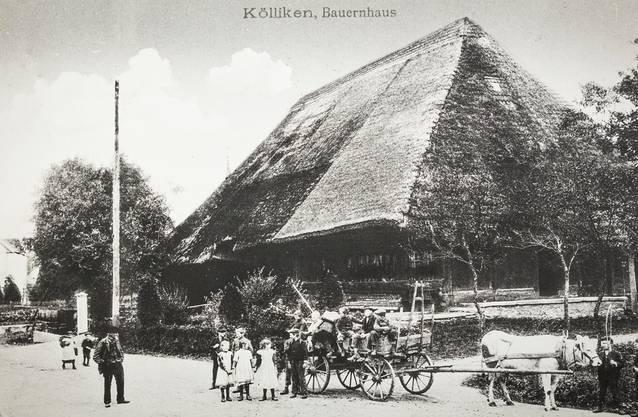 Johann Suter baute 1802 das Haus für 5000 Franken (Aufnahme um 1900).