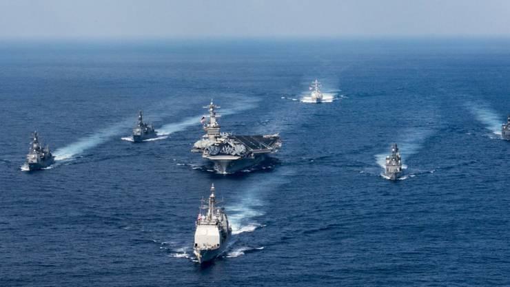 Nordkorea hat auf die Entsendung von US-Kriegsschiffen in Richtung seines Landes empört reagiert. (Archivbild vom 9. April 2017)