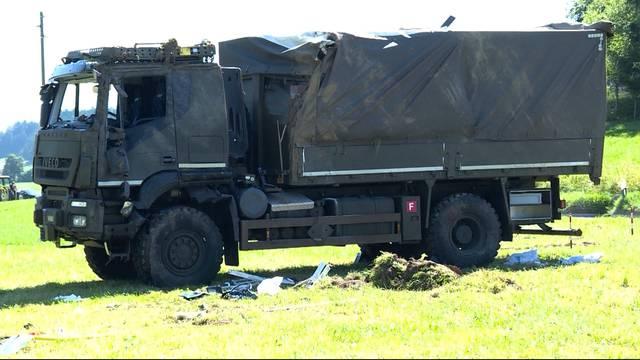 Armeeunfall im bernischen Linden: 19 teils schwer verletze Rekruten