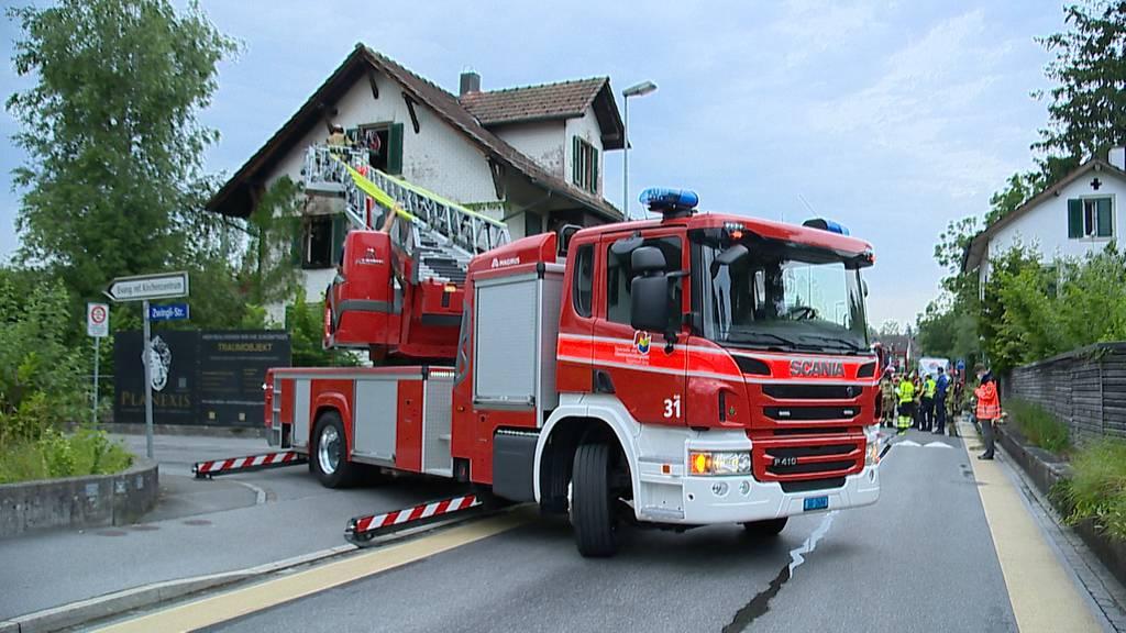 Hoher Sachschaden bei Brand in Rapperswil-Jona