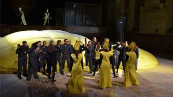 Die Musiktheaterproduktion von Auja! ist ein Science-Ficion-Drama mit über 50 Mitwirkenden.ZVG/Lou Goetzmann