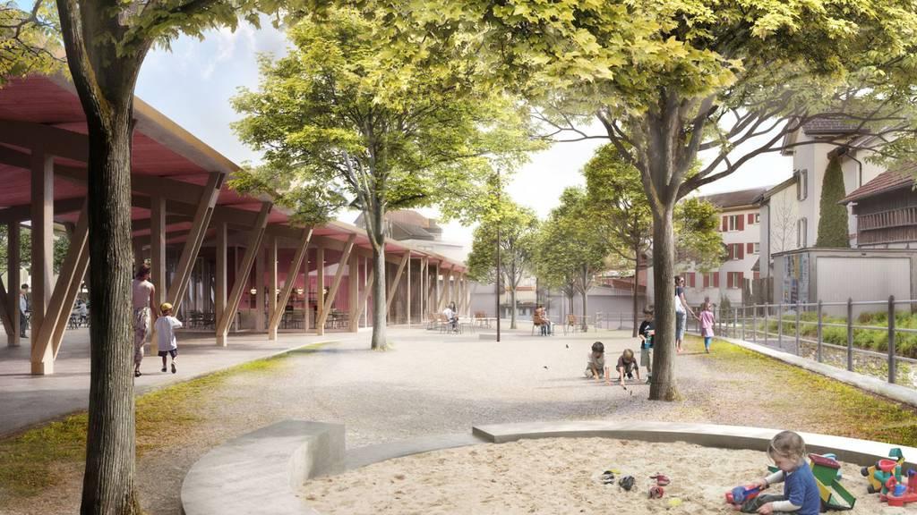 Neuer Marktplatz in Flawil, Abfuhr für Naturpark Rätikon