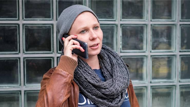 Solche Szenen gab es am Wochenende kaum: Berufsmaturandin Magdalena Sax am Telefonieren.