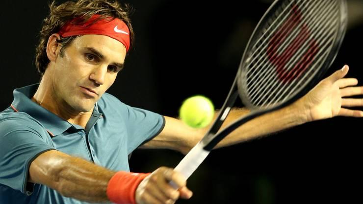 Federer spielt seit diesem Jahr mit einem grösseren Schläger und hat mit Stefan Eckberg auch einen neuen Coach im Team.