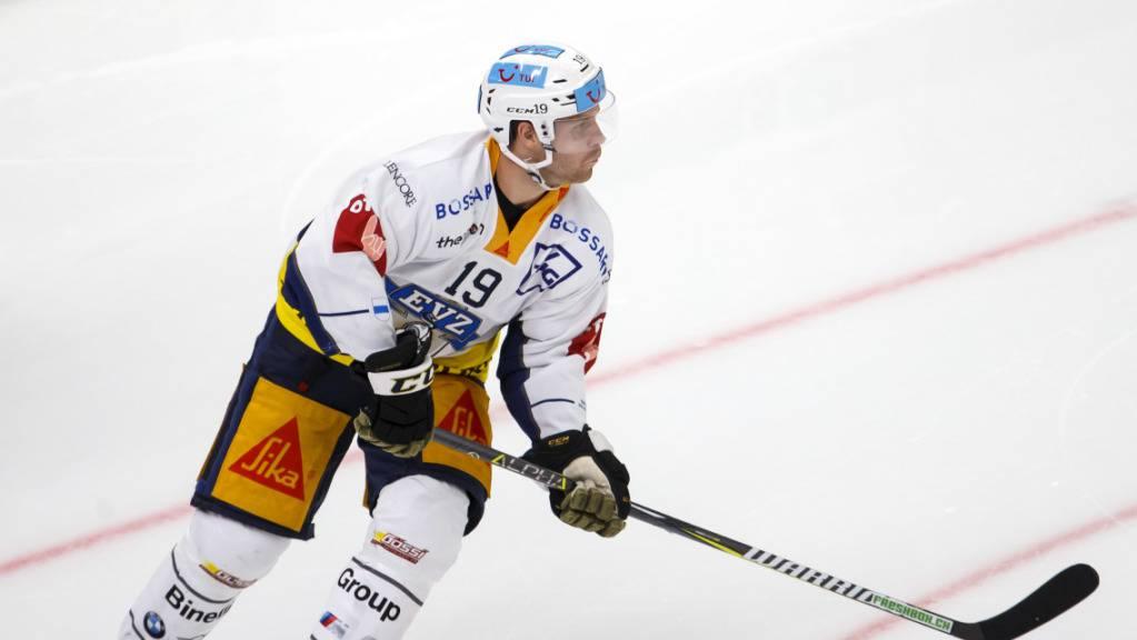 Doppel-Torschütze für den EV Zug beim Sieg in Lugano: der Schwede Oscar Lindberg.