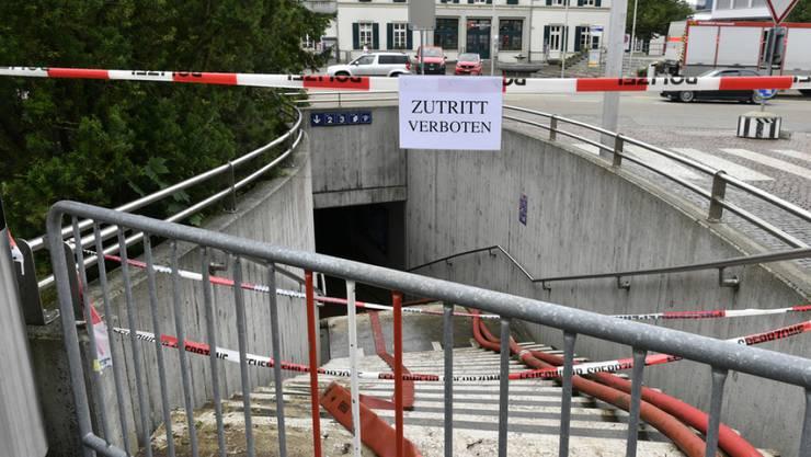 Beim Unwetter vom vergangenen Samstag wurde das Gebiet rund um den Bahnhof Zofingen AG arg in Mitleidenschaft gezogen. Die Aufräumarbeiten dauern an.