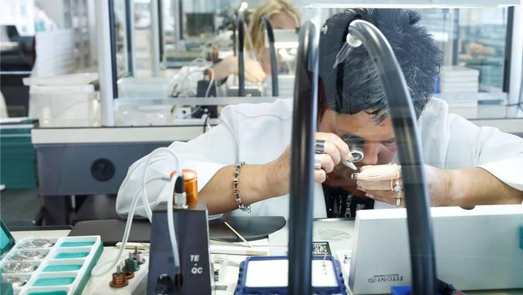 Die Ausfuhren im Bereich «Präzisionsinstrumente, Uhren und Bijouterie» stiegen. Symbolbild