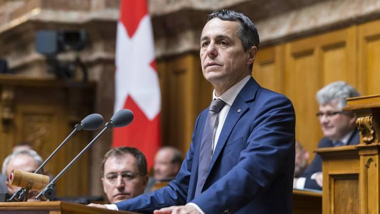 Aussenminister Cassis sagte Anfang November, ihm sei es wichtig, dass die Diskussion zuerst innenpolitisch breit geführt werde.