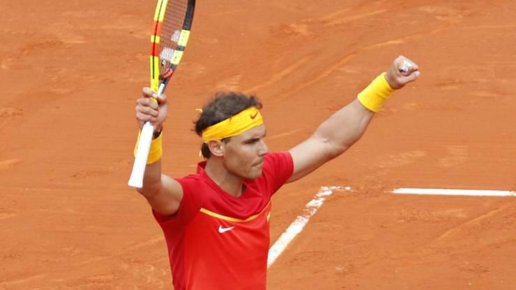 Erfolgreiches Comeback: Rafael Nadal in der Stierkampfarena in Valencia