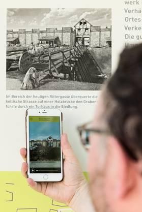 Der Audioguide ergänzt durch Bilder und Grafiken geben dem Benutzer eine Ahnung, wie es hier vor 2095 Jahren ausgesehen hat.