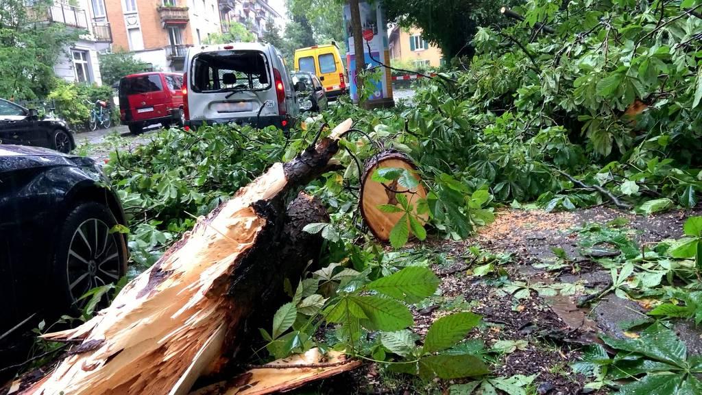 Sondersendung: Schwerer Hagelsturm sorgt für Zerstörung in Zürich