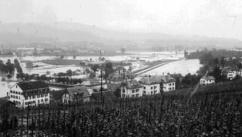 Blick aufs Limmattal von Höngg aus: Wegen des Sihlhochwassers im Jahr 1910 überschwemmte die Limmat das ganze Tal. zvg
