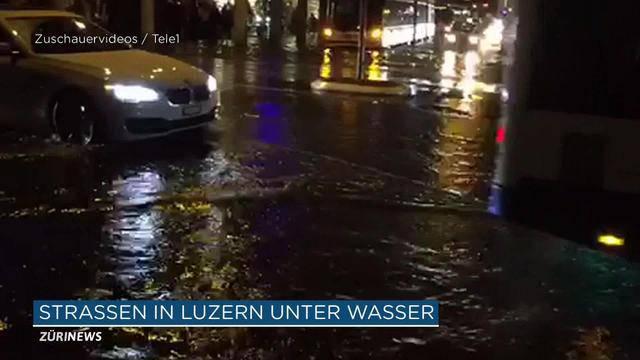 Schwanenplatz unter Wasser
