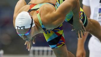 Maria Ugolkova stösst sich vom Startblock ab