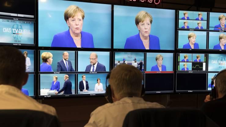 Das einzige TV-Duell zwischen Merkel und Schulz vor der Bundestagswahl in Deutschland bot nicht viel Spektakuläres.