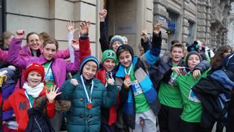 Silvesterlauf mit Uitiker Schulklasse