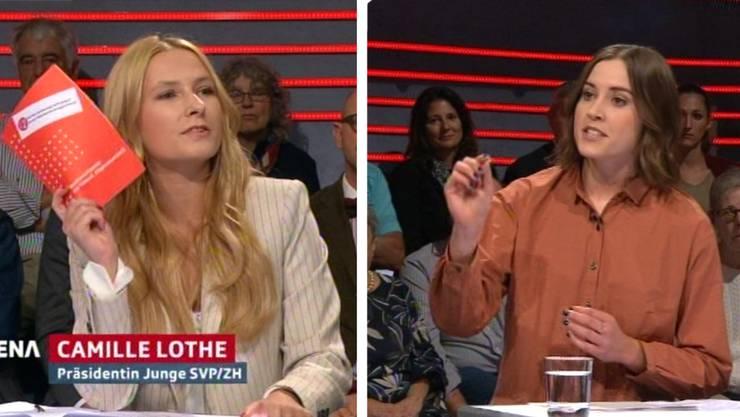Camille Lothe und Laura Zimmermann geben den Takt vor.