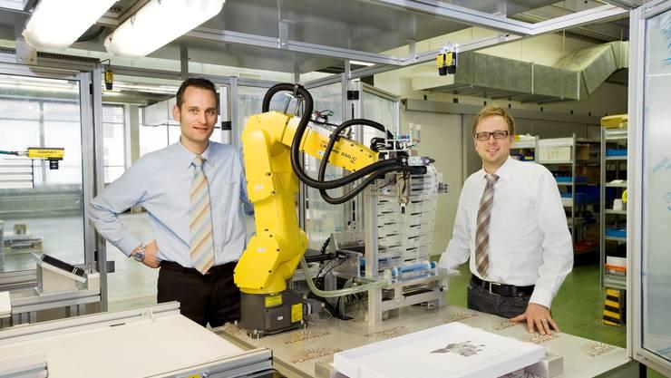 Stehen für Swiss Engineering: Nick Koch (links) und Stefan Hänseler