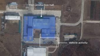 Das Foto zeigten den Militär-Standort Sanumdong. In der Anlage hatte Nordkorea bisher bereits ballistische Raketen und Raketen zum Starten von Satelliten getestet. (Screenshot)