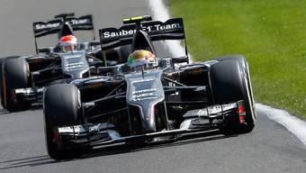 Die beiden Sauber-Boliden fahren der Konkurrenz weiter hinterher.