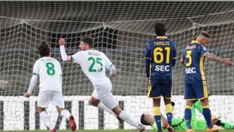 Domenico Berardi traf gegen Hellas Verona zum vierten Mal in dieser Saison
