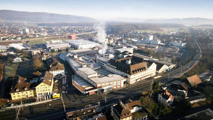 Neuer Stadtteil: Aus dem 60 000 Quadratmeter grossen Hero-Areal wird nach dem Auszug der Konservenfabrik ein neuer, lebendiger Stadtteil. (EBM/Losinger)