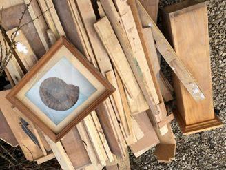 Unbekannte haben viel Holz illegal im Klingnauer Wald entsorgt.
