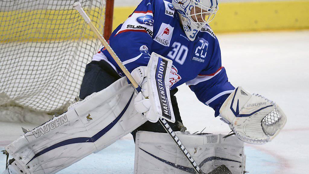 ZSC-Goalie Lukas Flüeler muss lange pausieren.