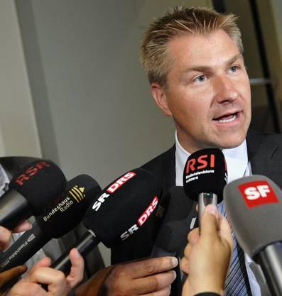 2009 -Als Parteipräsident ein gefragter Mann bei den Medien