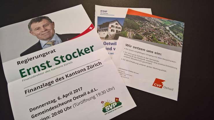 Im «Oetwil Info» gab es diesmal doppelt so viel Platz für die SVP-Ortspartei.