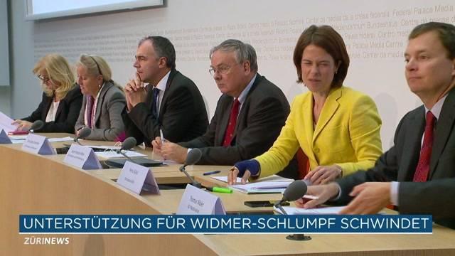 Unterstützer Widmer-Schlumpfs schrumpfen