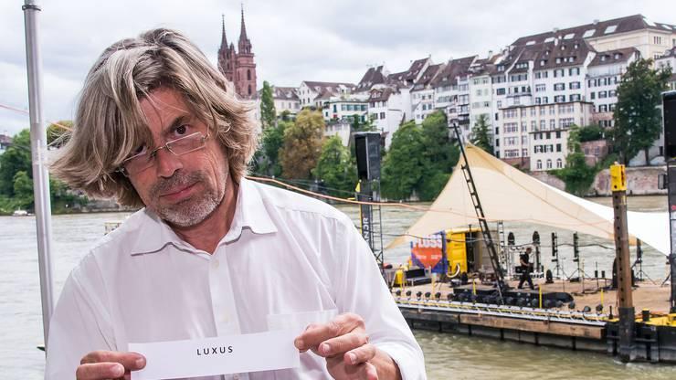 Auch Kulturfloss-Kapitän Tino Krattiger kann einer Neuauflage der Rheinbord-Gestaltung Gutes abgewinnen.