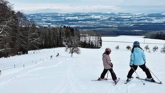 Heute Mittwoch konnte der Horben-Skilift erstmals diesen Winter laufen.