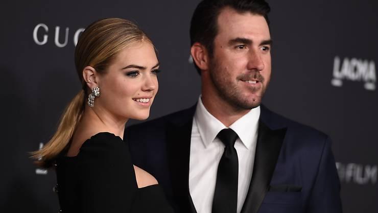 Model Kate Upton und ihr Ehemann, der Baseballspieler Justin Verlander haben im letzten November geheiratet. Jetzt erwarten sie ein Baby. (Archiv)