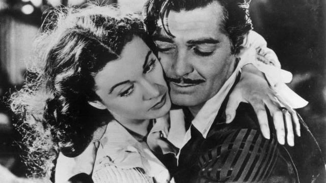"""Vivien Leigh und Clark Gable in Film """"Vom Winde verweht"""" (Archiv)"""